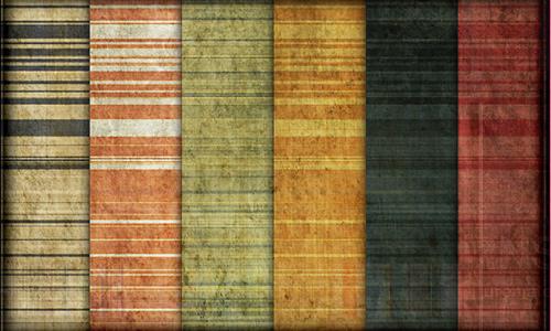 Grunge amazing seamless stripe photoshop pattern set