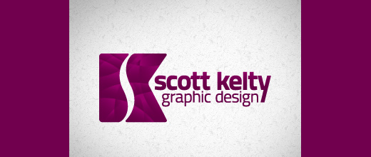 Graphic design purple logo