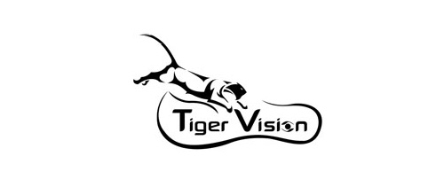 Glasses vision tiger logo