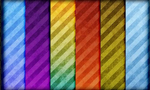 Grunge vintage seamless stripe photoshop pattern set