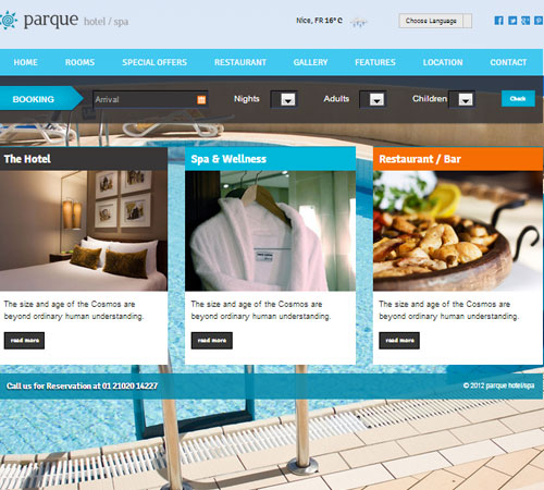 22 Premium Hotel and Resort HTML & WordPress Templates | Naldz Graphics