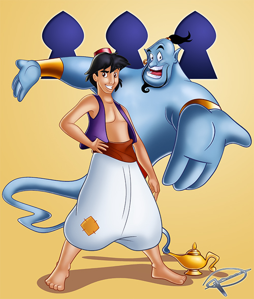 aladdin and the genie