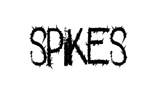 spikes font