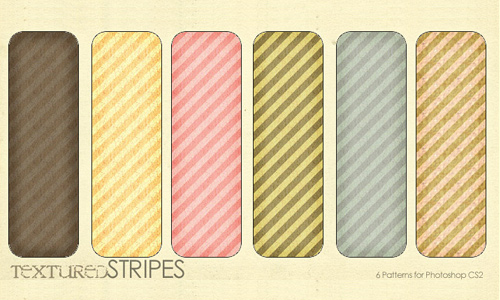 Rough seamless stripe photoshop pattern set
