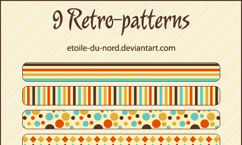 Retro seamless stripe photoshop pattern set
