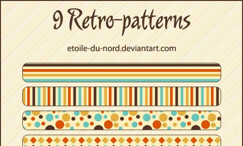Retro seamless stripe photoshop pattern set