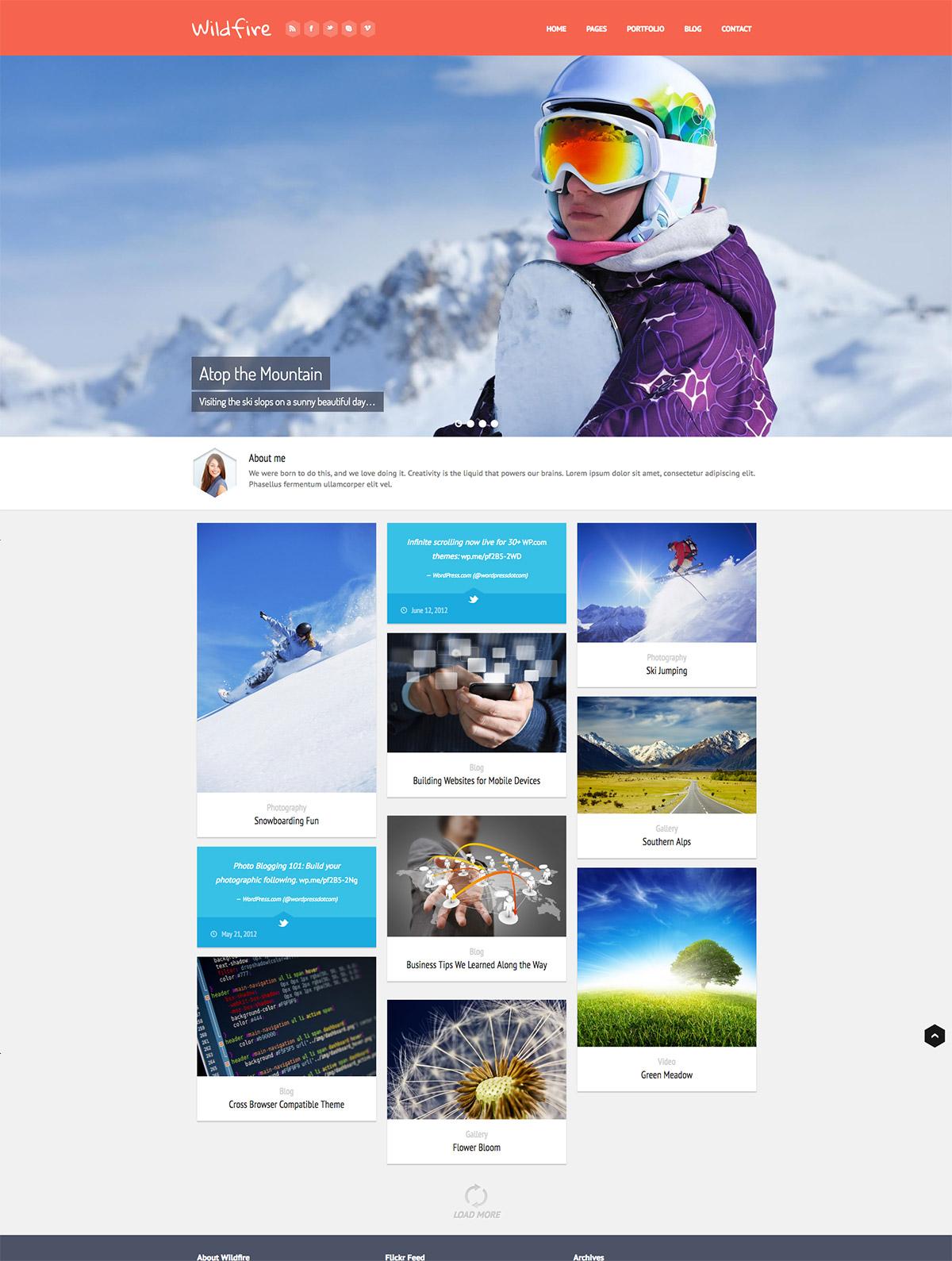 responsive portfolio theme