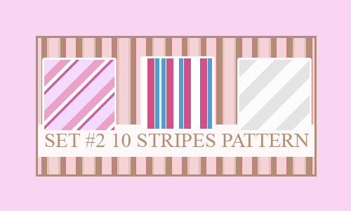 Pink seamless stripe photoshop pattern set