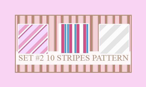 Pink seamless stripe photoshop pattern set