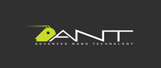 green technology ant logo