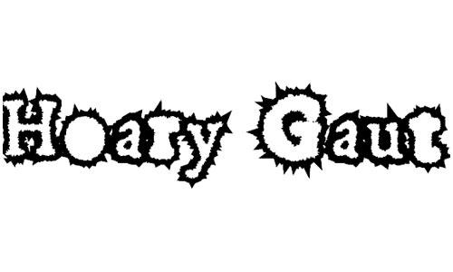 Hoary Gaut font