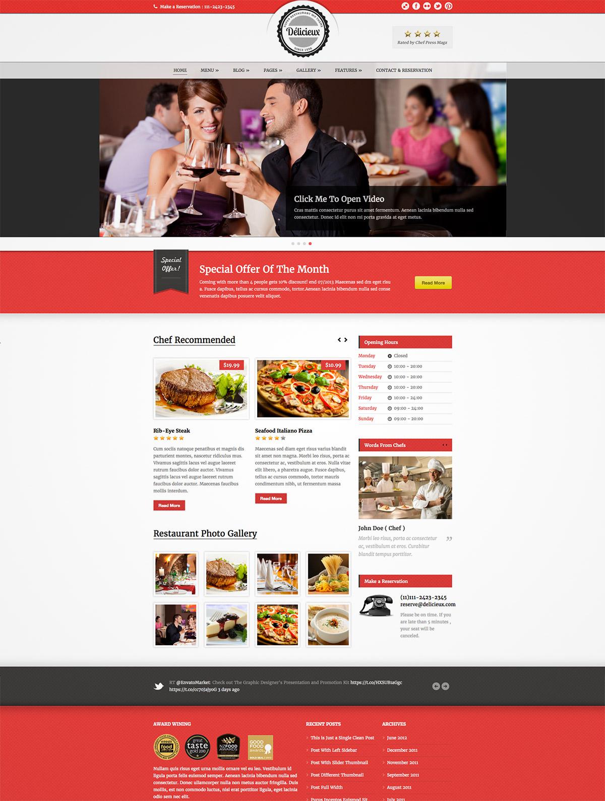 restaurant premium theme
