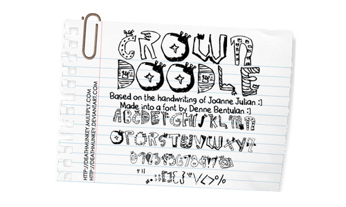 Cool drawing doodle fonts