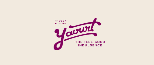 Yogurt purple violet logo