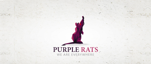 Rat purple violet logo