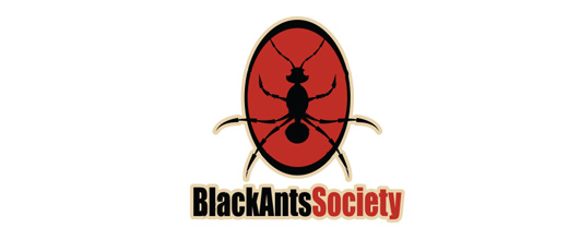 Black red ant logo