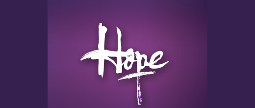Hope typopgraphy purple violet logo