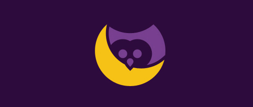 Owl purple violet logo