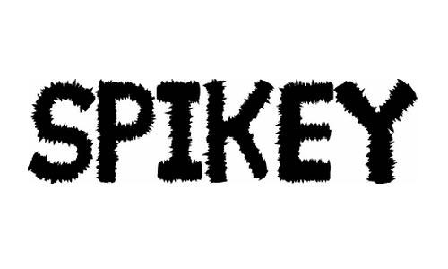 Spikey font