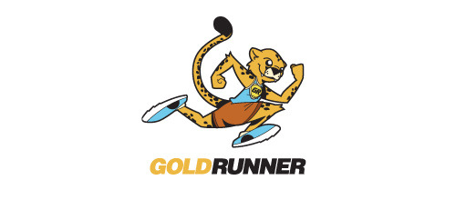 Run tiger logo athlete