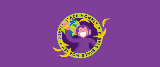 Monkey purple violet logo