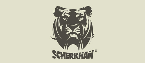 Nice grey tiger logo