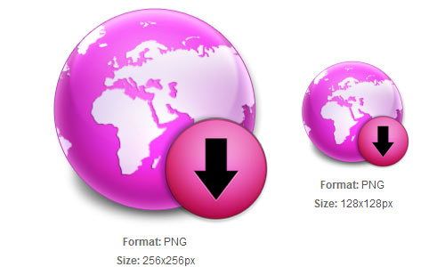 Purple Globe Download icon