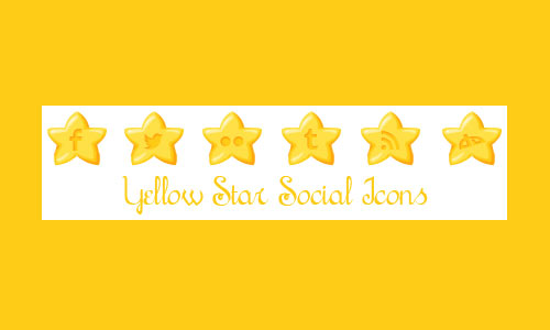 Yellow Star Social Icons