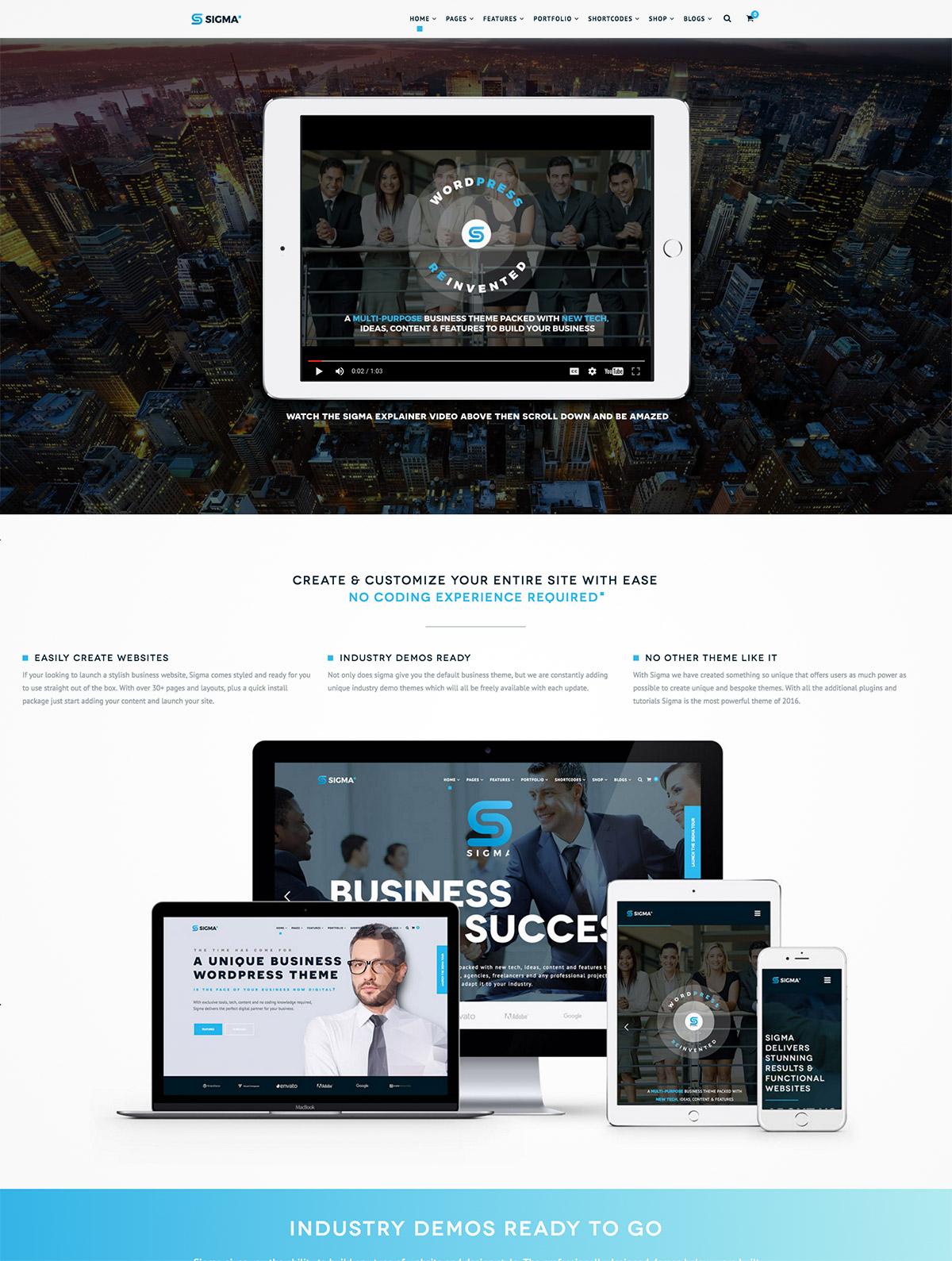 business theme wordpress