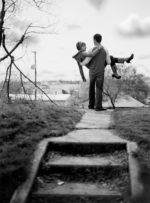Black and white grey sweet couple engagement photography