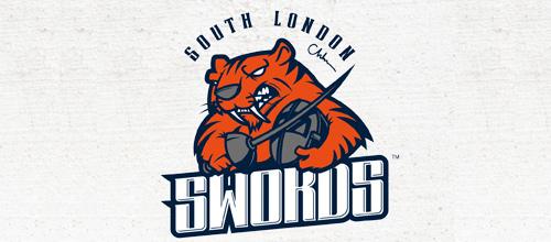 Fencing sword tiger logo