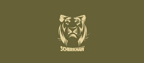 Green version tiger logo