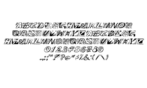 Drawing bold doodle fonts sketch free