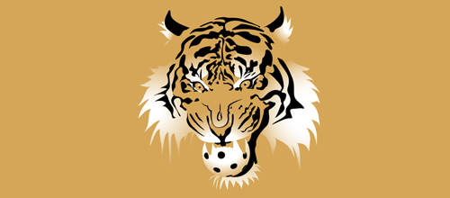 Hockey tiger logo