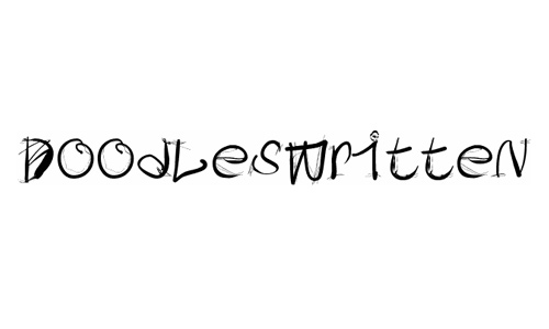 Writing hand doodle fonts sketch free