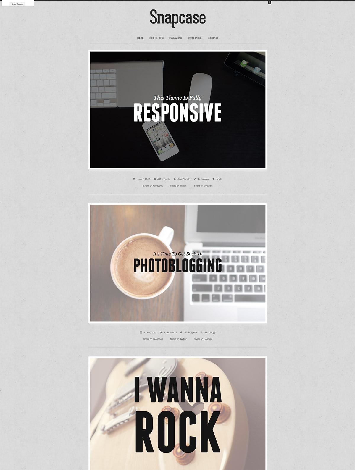WordPress Photoblog Theme