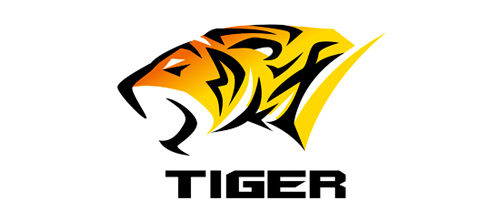 Simple lines tiger logo