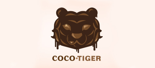 Brown coco tiger logo