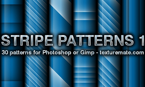 Blue seamless stripe photoshop pattern set