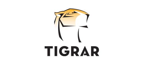 Elegant tiger logo
