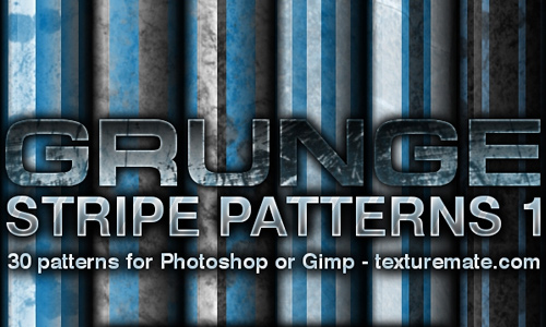 Grunge seamless stripe photoshop pattern set