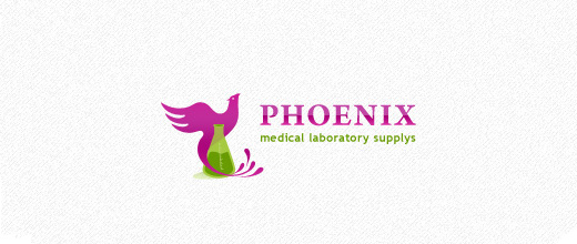 medical laboratory supplies company purple logo