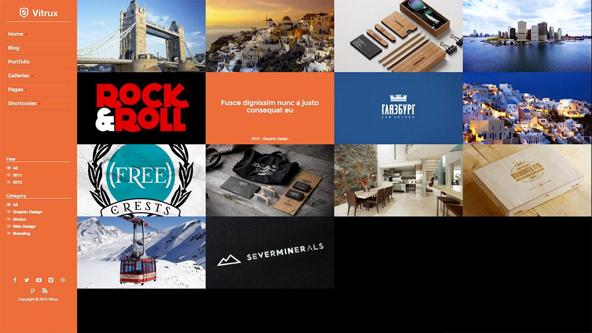 responsive fullscreen portfolio