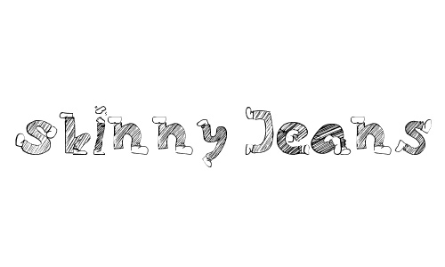 Drawing jeans doodle fonts sketch