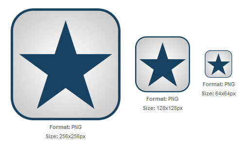 Blue and White Star icon