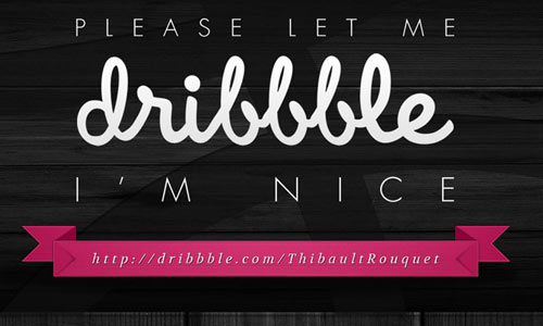 Let Me Dribbble *Free PSD*