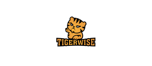 Cute orange tiger logo