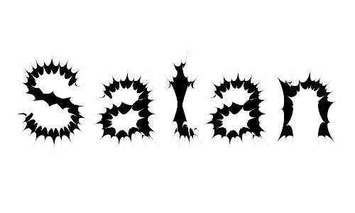 Satan Possessed font