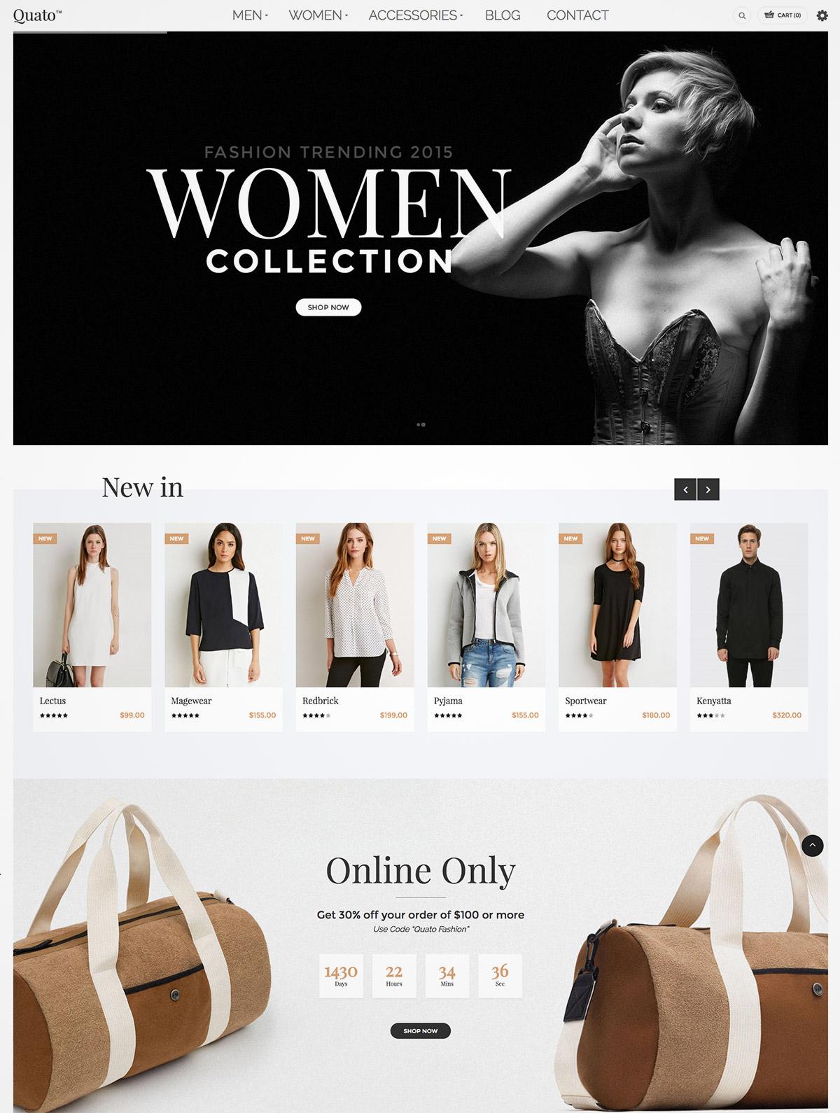 responsive fashion wordpress