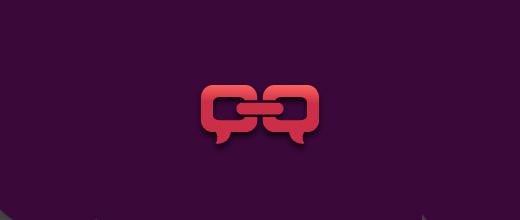 Social link purple logo